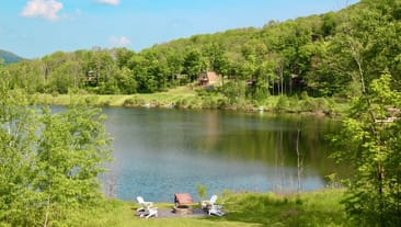 Gorgeous Catskills lakefront vacation rental in Hunter NY.